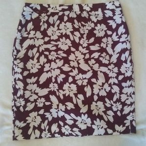 Fall Print Pencil Skirt